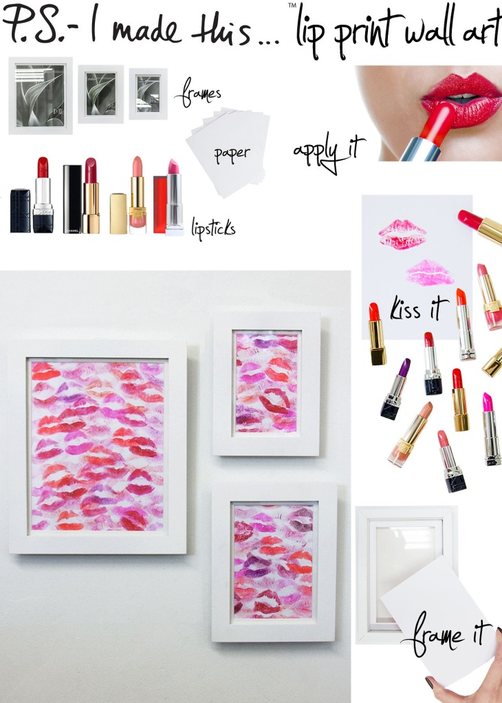 p.s i made this lipstick wall art