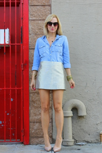 brooklyn blonde chambray