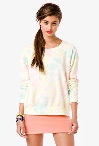 f21 tie dye pullover