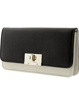 Mad Men? Collection Contrast Clutch - Black
