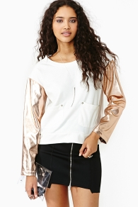 Nasty gal golden years top